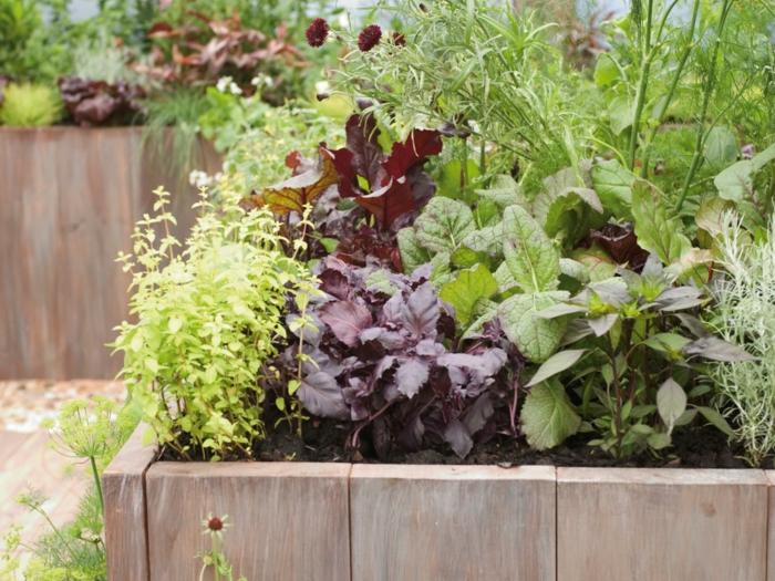 gartenideen gemüse einpflanzen hochbeete