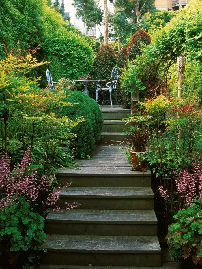 Gartentreppe holz – gartenideen mit treppen