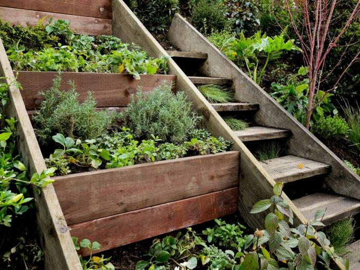 Gartentreppe holz gartenideen mit treppen for Kreative gartenideen