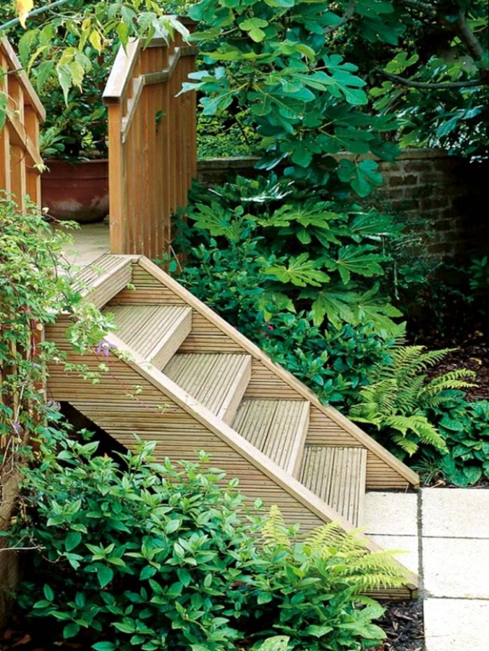 Gartentreppe holz gartenideen mit treppen for Gestalten garten