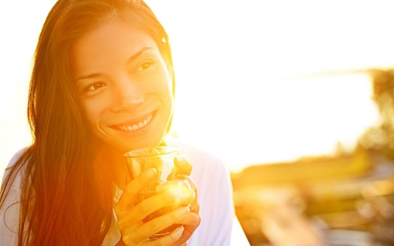 gesundes Leben führen gesunde Gewohnheiten Guten Morgen Routine