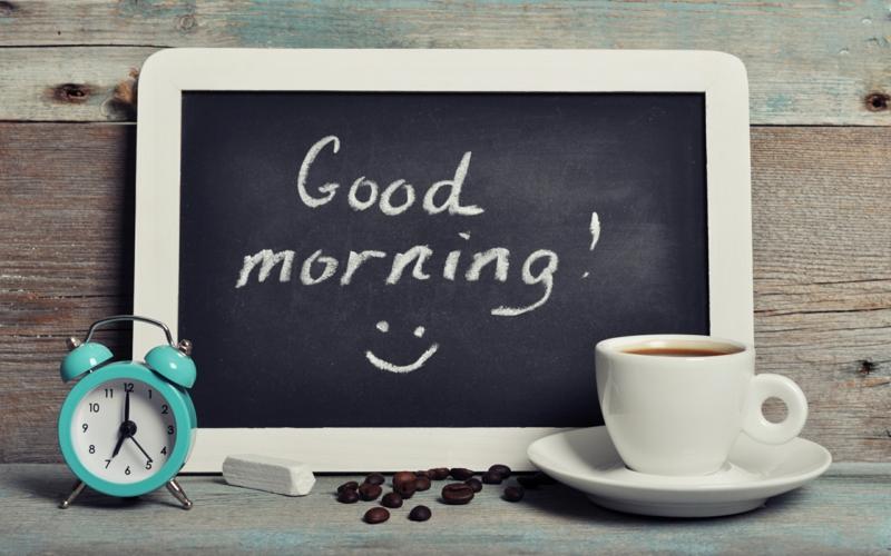 gesundes Leben führen gesunde Gewohnheiten jeden Morgen