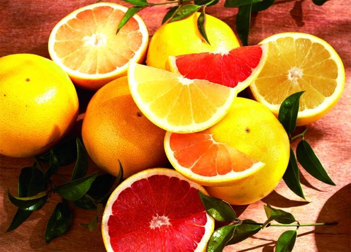 gesundes essen zitrusfrüchte gelb orange rot