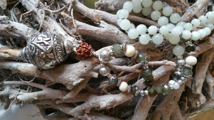 hippie schmuck boho chic halskette edelsteine silber ornamente hippieinheaven
