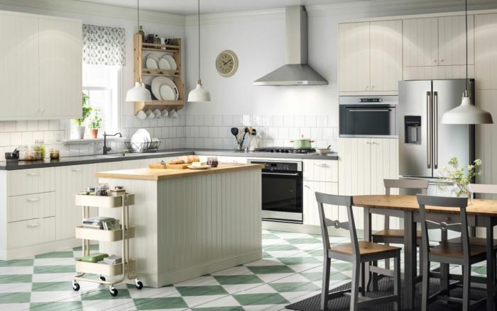 ikea küchen creme weiße küchenschränke fronten kücheninsel esstisch