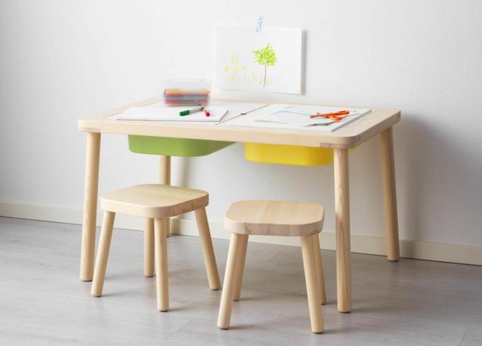 Ikea Wandregal Welche Schrauben ~ IKEA Kinderzimmer – schlichte, ergonomische Holzmöbel für Ihre