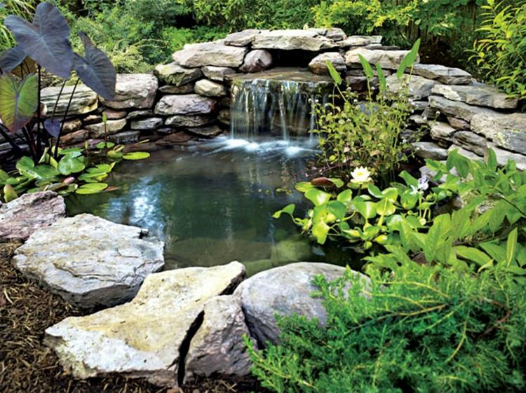inspirierende Gartenteich Bilder Gartengestaltung mit Steinen
