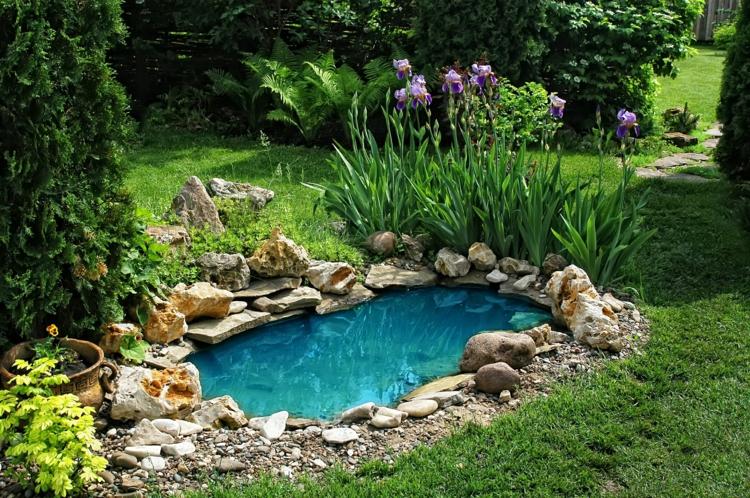 inspirierende Gartenteich Bilder Gartenideen Wasserquelle im Garten