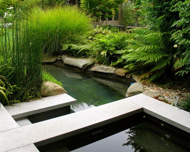 inspirierende Gartenteich Bilder moderne Gartengestaltung