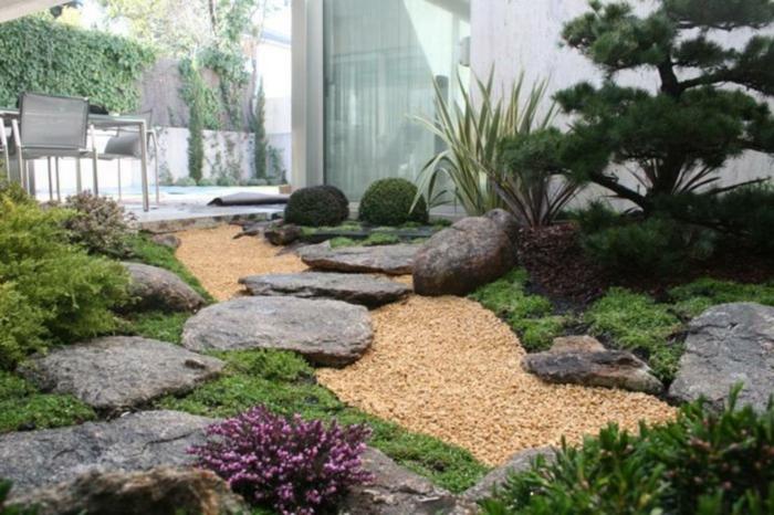 Lounge Garten Möbel Modernes Design Holzboden Ideen zen atmosphäre