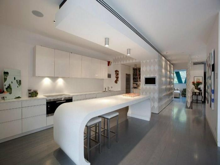 kücheneinrichtung weiße küche gestalten unterschrankbeleuchtung