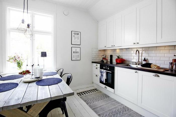 küchengestaltung feng shui qi enerige kücheneinrichtung weiße küchenschränke