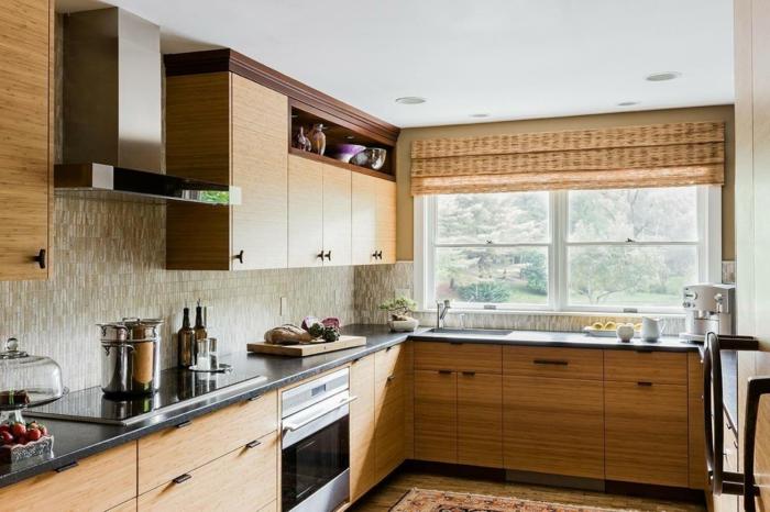 küchengestaltung küche richtig einrichten helle hölzer küchenschränke kücheneinrichtung naturmaterialien