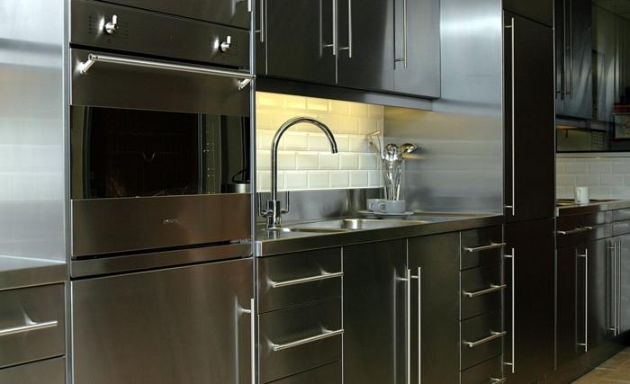 küchenmöbel edelstahl metro tiles wohnideen küche