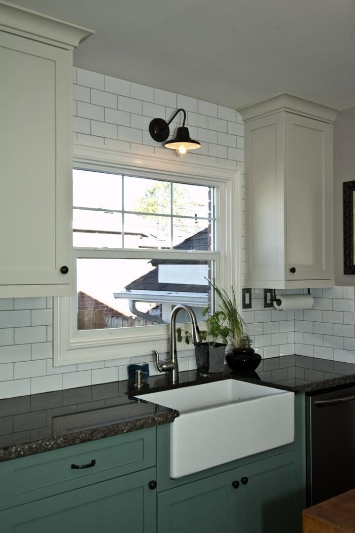 küchenmöbel grüne küchenschränke granit arbeitsplatte