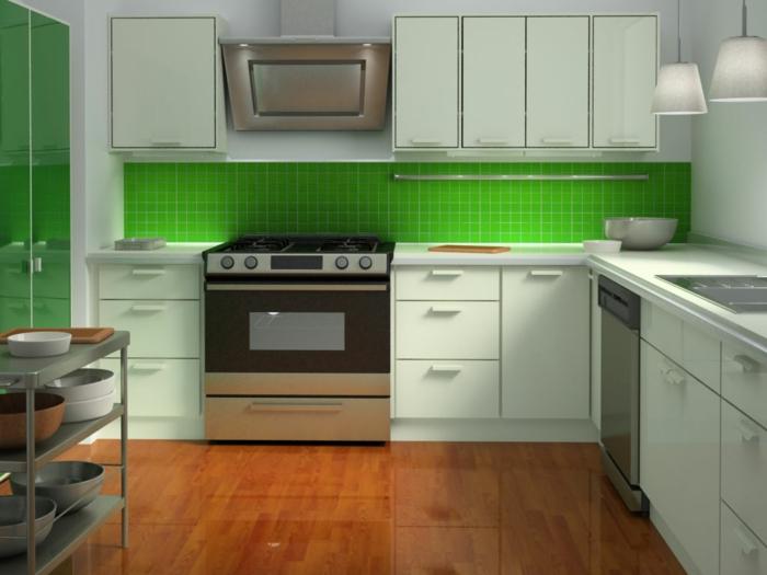 küchenmöbel ikea grüne küchenrückwand wohnideen küche