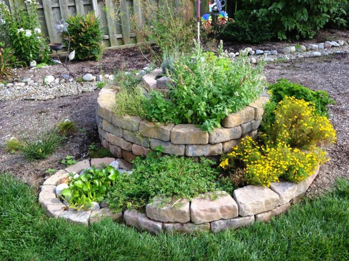 kräuterspirale stein Kräuterspirale bauen