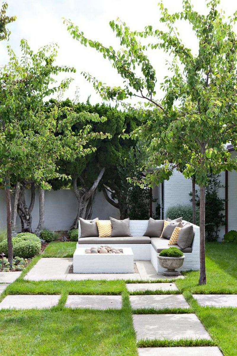 kreative Gartenideen Gartenarbeit gemütlicher Außenbereich
