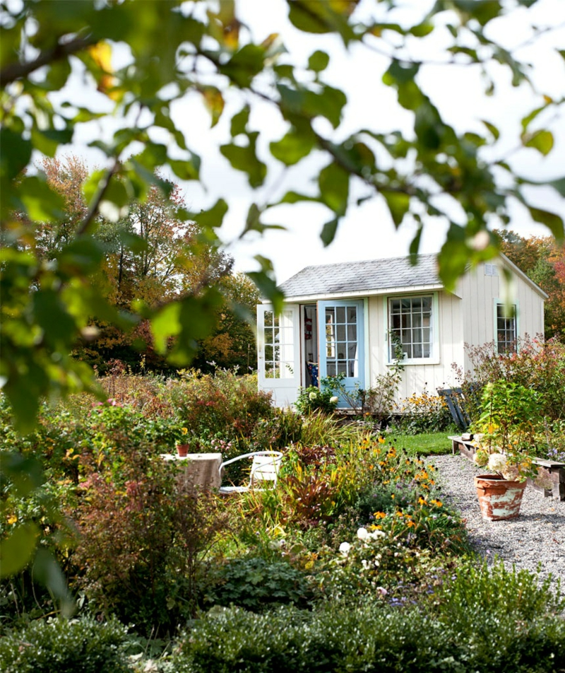 kreative Gartenideen Gartenhaus Gartenzubehör