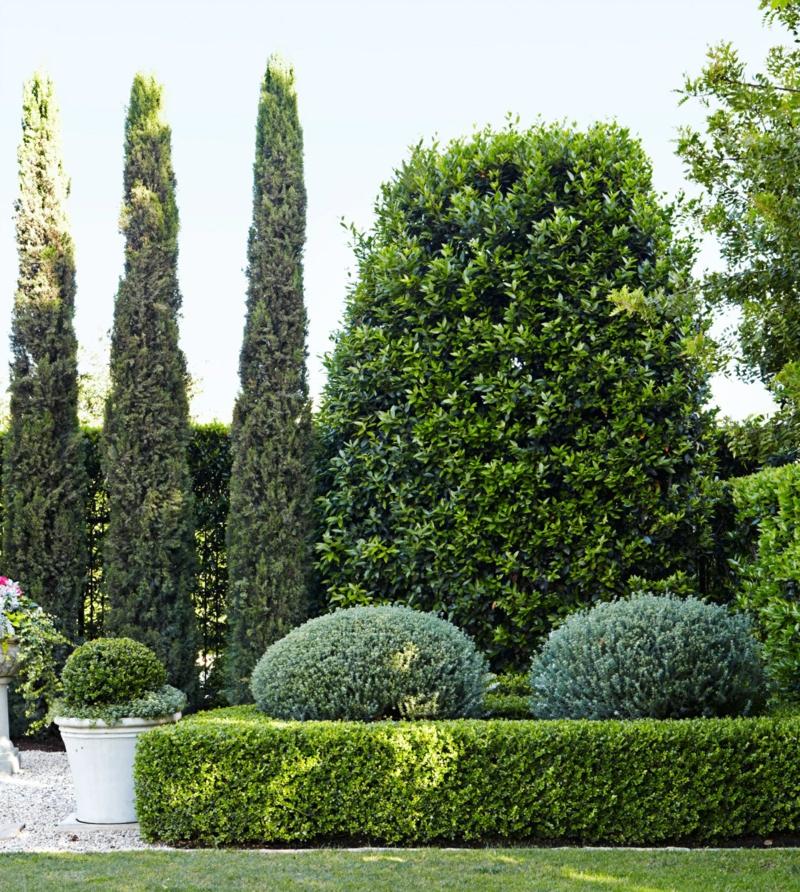 kreative Gartenideen Hecke gestalten Gartenarbeit