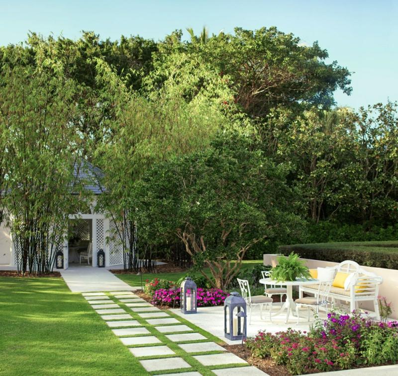 kreative Gartenideen Sommerhaus Außenbereich gestalten