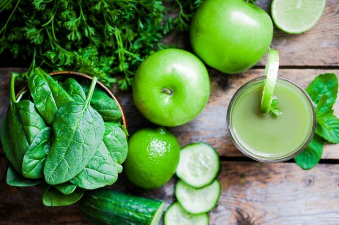 lebe gesund gesundes leben grüne blätter