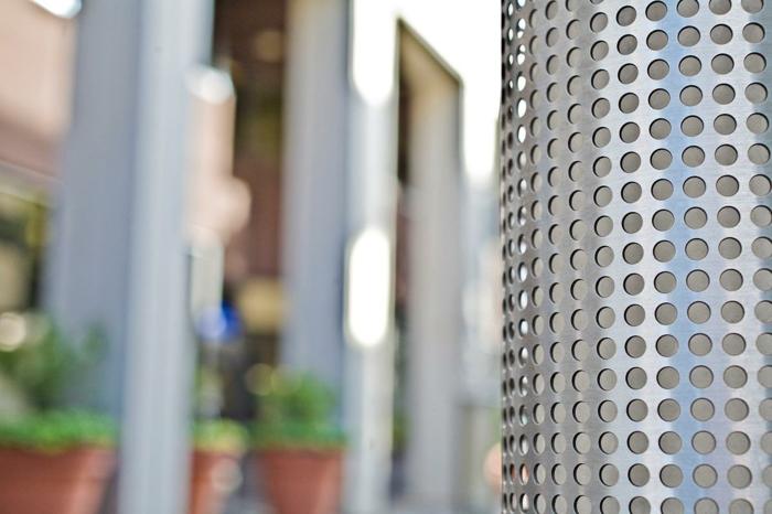 lochbleche runde öffnungen edelstahl outdoor konstruktion