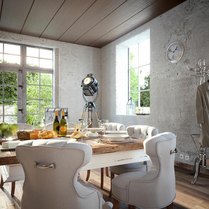 Möbe Trend 2016 Esstisch Bequeme Sessel Rustikaler Wohnstil Wohnzimmer  Esszimmer Riviera Maison Möbel ...