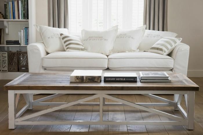 möbel trend weißes sofa vintage couchtisch