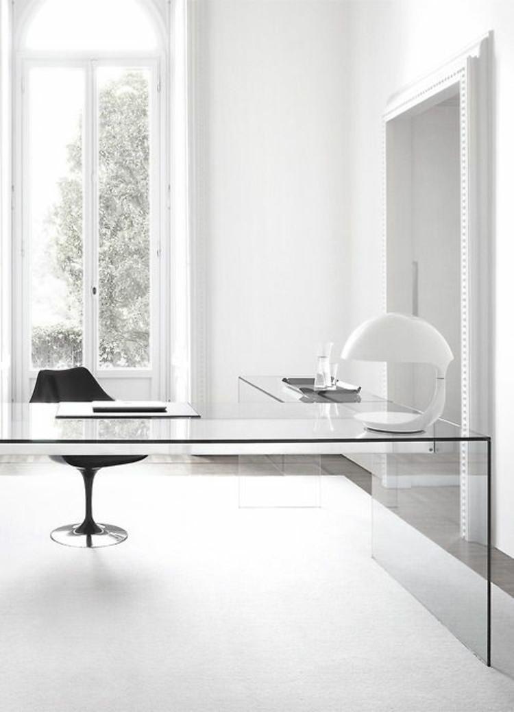 moderne Büromöbel Glasschreibtisch Home Office einrichten