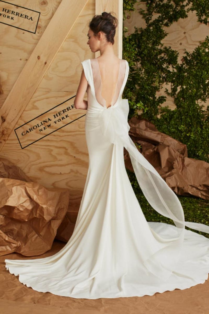 moderne Brautkleider Carolina Herrera freier Rücken