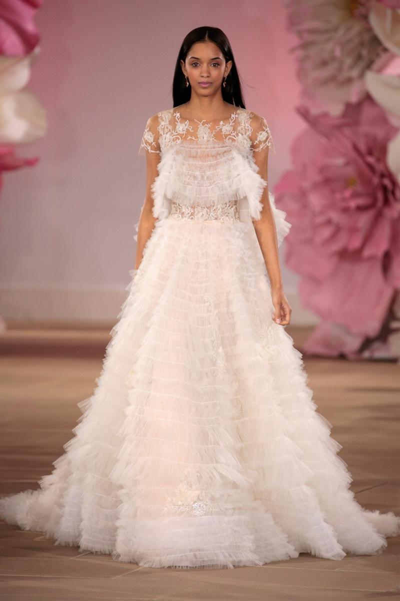 moderne Hochzeitskleider Ines Di Santo Brautmode Rüschen Kleid