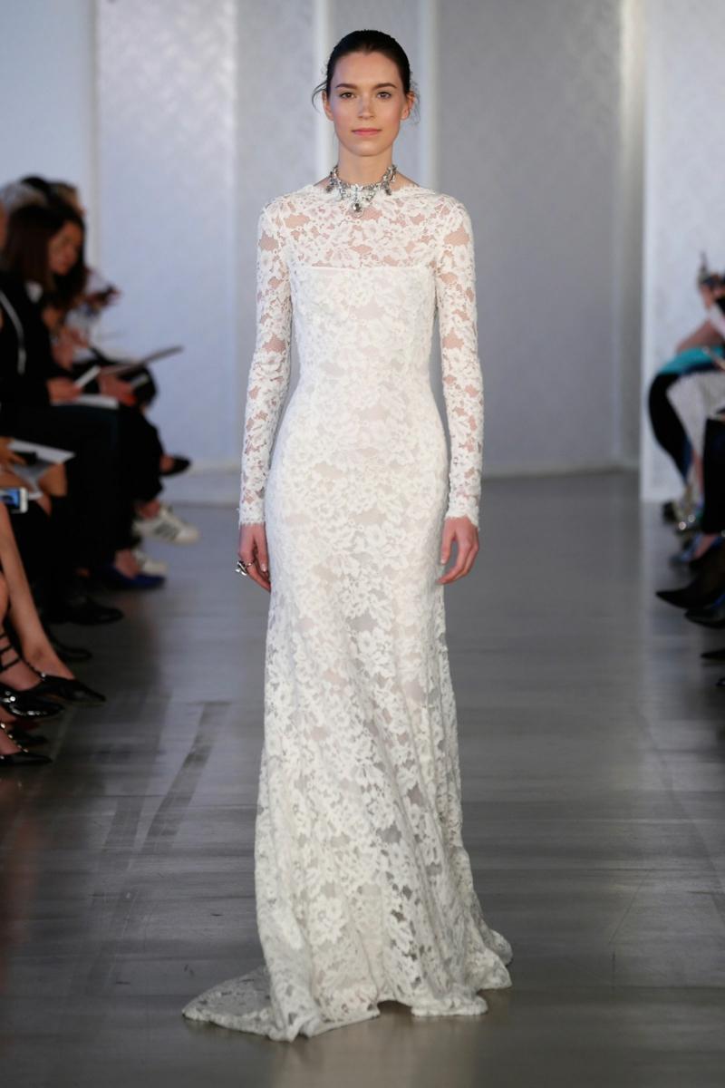 moderne Brautkleider Oscar de la Renta Brautmode Spitzenkleid
