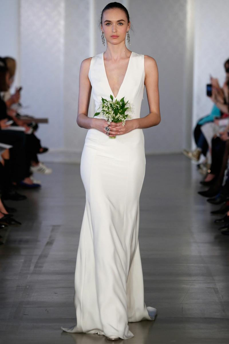 moderne Brautkleider Oscar de la Renta Hochzeitskleider lang