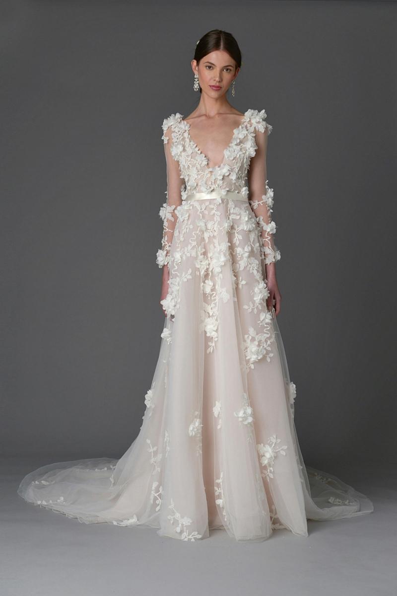 moderne Hochzeitskleider Marchesa Brautmode märchenhafte Brautkleider
