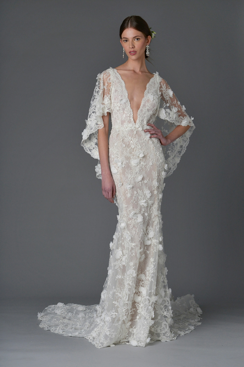 moderne Hochzeitskleider Marchesa märchenhafte Brautmode