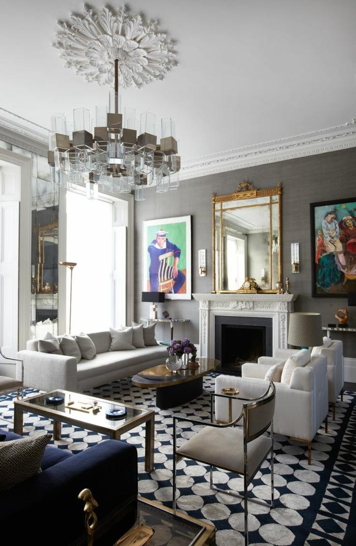 moderne sessel wohnideen wohnzimmer weiße sessel armlehnen