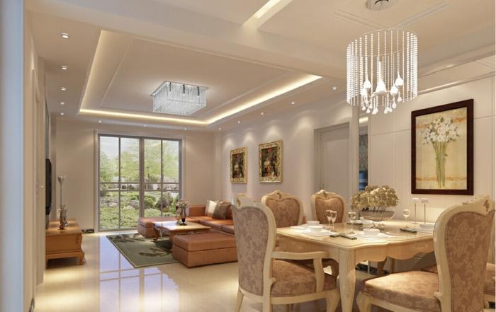 modernes esszimmer luxuriöse esszimmermöbel offener wohnplan