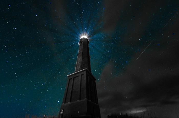 norderney nordesee ostfriesische insel weiße düne leuchtturm nachts