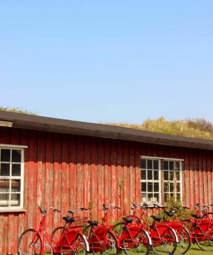 nordeney nordesee ostfriesische insel weiße düne rote fahhräder