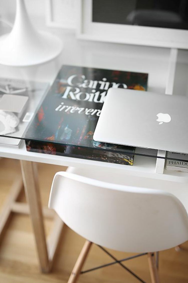 praktische Büromöbel Glasschreibtisch Home Office einrichten