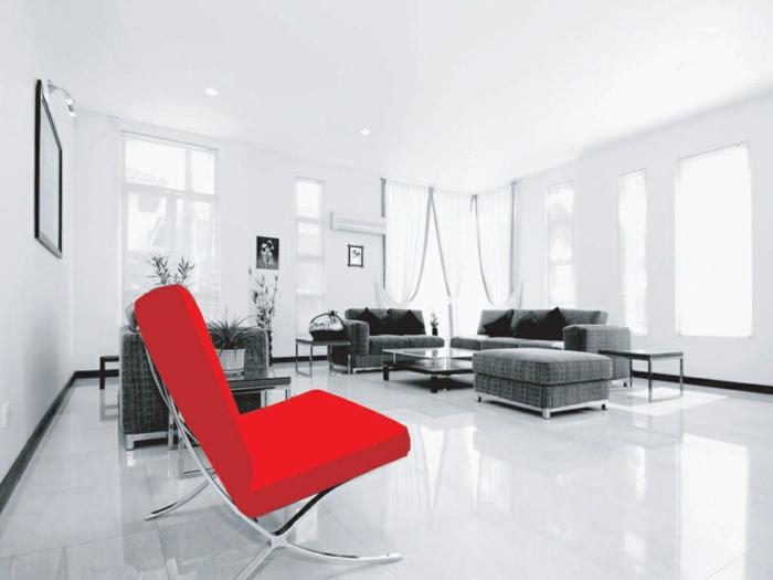 Wohnzimmer akzente setzen for Farbige sessel