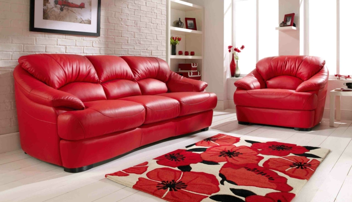 Wandfarbe Zu Roter Couch : Roter Sessel - 30 faszinierende Designs ...