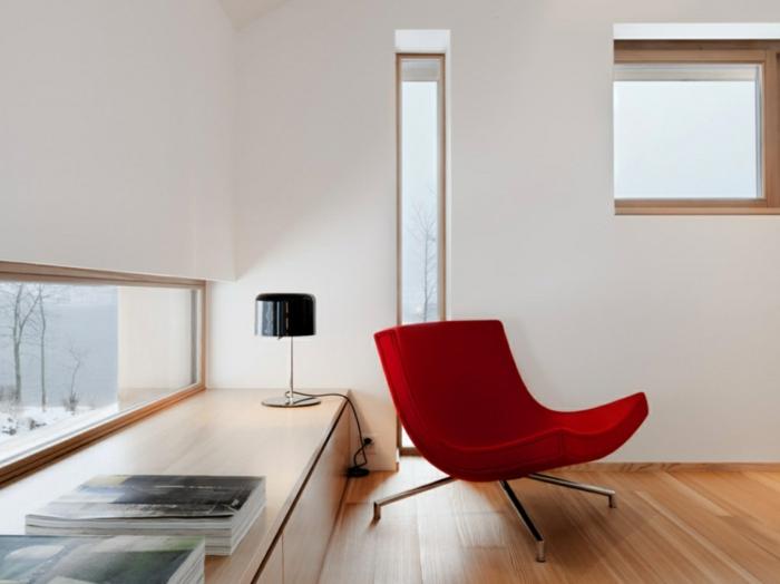 Sessel Rot Innendesign Ideen Minimalistisch