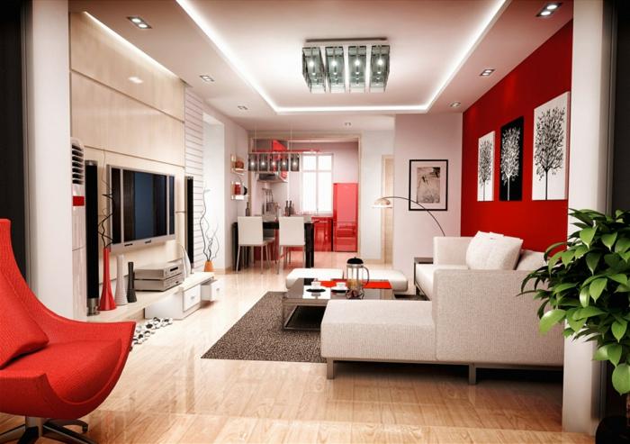 Rote Sessel Wohnzimmer Mobel ~ Preshcool.com = Verschiedene ... Wohnzimmer Einrichten Rot