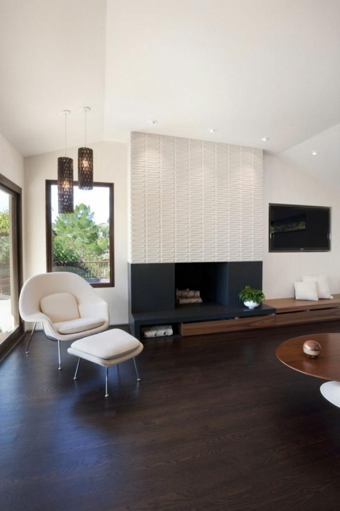 Wohnzimmer Sessel mit coolem Look, die sich im Raum deutlich ...