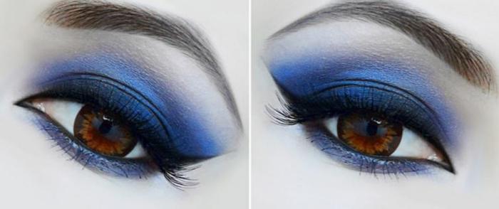smokey eyes schminken schminkanleitung schminktipps braune augen blau2