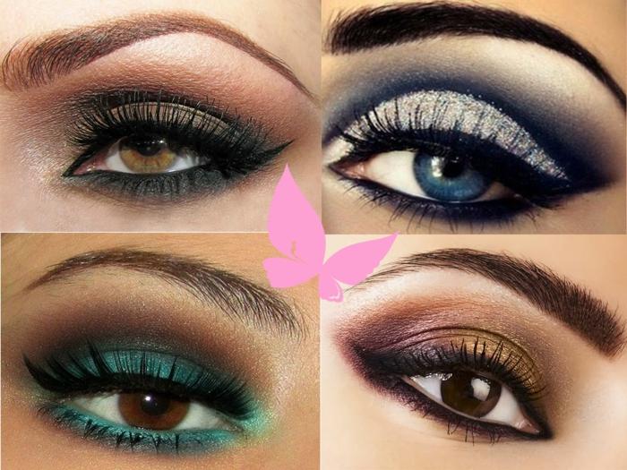 smokey eyes schminken schminkanleitung schminktipps braune augen schritt für schritt für jede farbe
