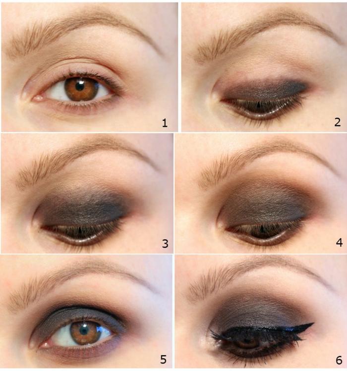 smokey eyes schminken schminkanleitung schminktipps braune augen schritt für schritt3