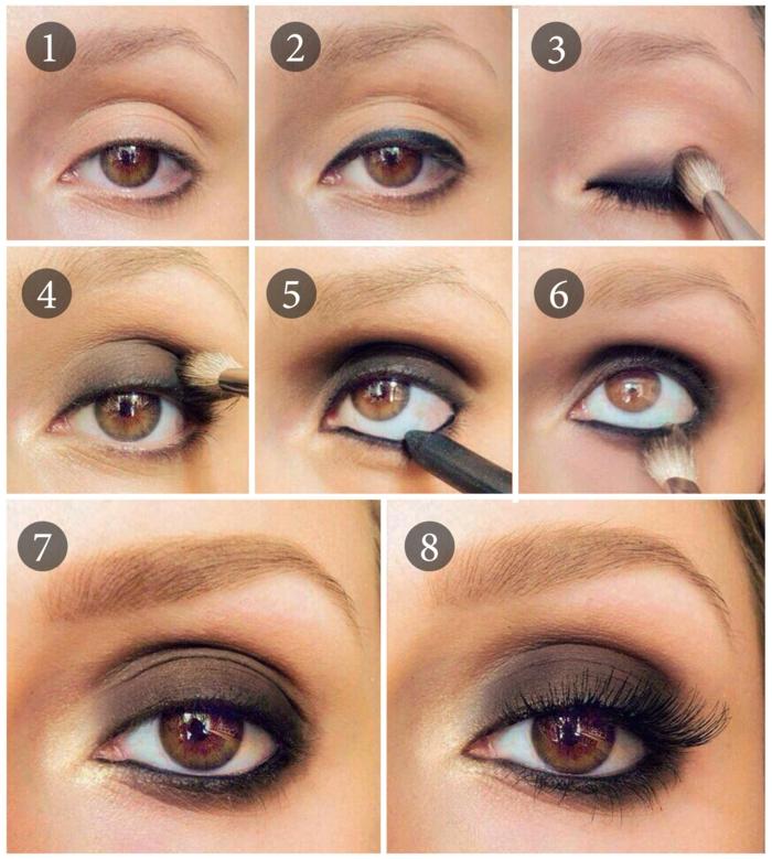 smokey eyes schminken schminkanleitung schminktipps braune augen schritt für schritt4
